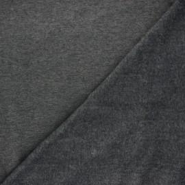 Plain sweatshirt with minkee fabric - mottled grey x 10cm