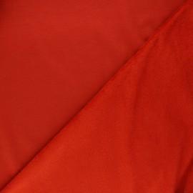 Tissu sweat envers minkee uni - rouille x 10cm