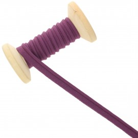 10 mm Poly Cotton Piping Ribbon Roll - plum purple