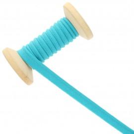 10 mm Poly Cotton Piping Ribbon Roll - Tahiti blue