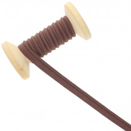 10 mm Poly Cotton Piping Ribbon Roll - brown