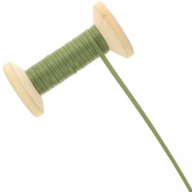 3 mm Double Sided Satin Ribbon Roll - Khaki