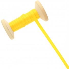 Ruban satin double face 6 mm - jaune soleil - Bobine de 50 m