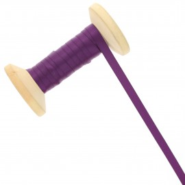 6 mm Double Sided Satin Ribbon Roll - Sloe Purple