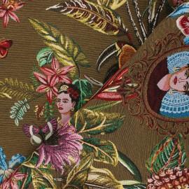 Jacquard fabric - camel Manaus x 10cm