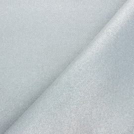 Textured polyester fabric - silver Mermaidia x10cm