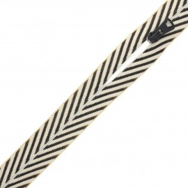 Fermeture à glissière non-séparable au mètre - Classy zebra