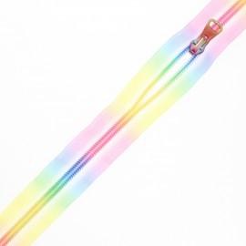 Fermeture à glissière non-séparable au mètre - Rainbow