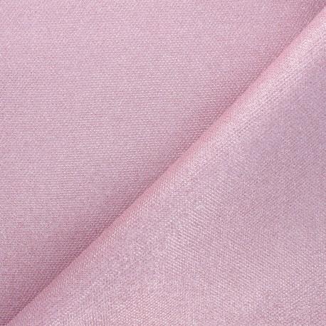 Tissu pailleté texturé Mermaidia - rose x 10cm