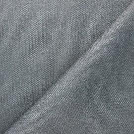Textured polyester fabric - grey Mermaidia x10cm