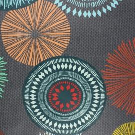 Coated cotton fabric - grey Capacha x 10cm