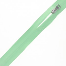 Waterproof closed-end zip by the meter with sliders - green Graphic