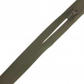 Waterproof closed-end zip by the meter with sliders - khaki green Basic
