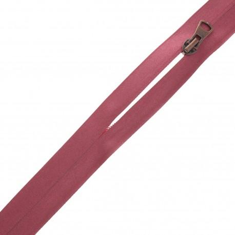 Waterproof closed-end zip by the meter with sliders - burgundy Shiny