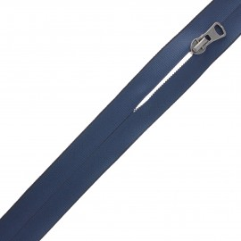 Waterproof closed-end zip by the meter with sliders - navy blue Squary