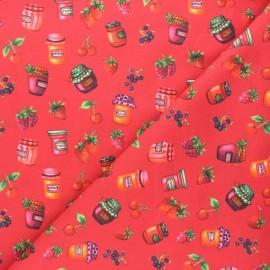 Tissu coton popeline Confiture 3 - rouge x 10cm