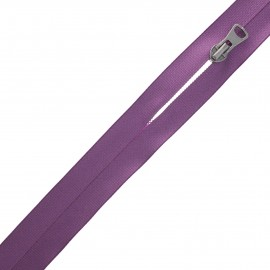 Waterproof closed-end zip by the meter with sliders - purple Squary