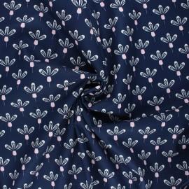 Tissu coton popeline Poppy Flower - bleu nuit x 10cm