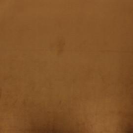 Tissu velours Brunei - camel x 10cm