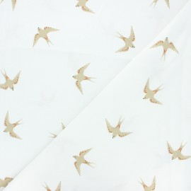 Washed cotton fabric - raw Hirunda x 10cm
