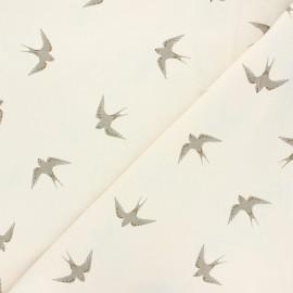 Tissu coton lavé Hirunda - ivoire x 10cm