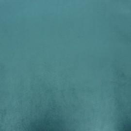 Tissu velours Brunei - sarcelle x 10cm