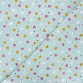 Tissu coton lavé Florem - vert sauge x 10cm