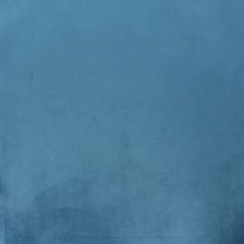 Tissu velours Brunei - bleu houle x 10cm