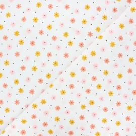 Tissu coton lavé Florem - écru x 10cm