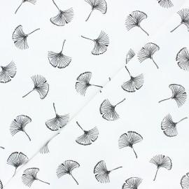 Tissu coton lavé Monochrome - Ginkgo love x 10cm