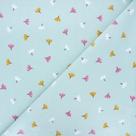 Tissu coton lavé Dulce - bleu clair x 10cm