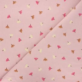 Tissu coton lavé Dulce - eau de rose x 10cm