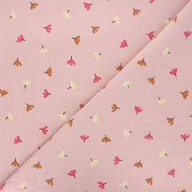 Washed cotton fabric - water pink Dulce x 10cm