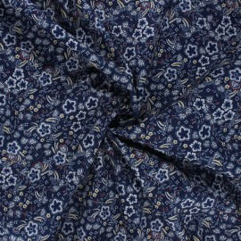 Elastane cotton fabric - midnight blue Pensée x 10cm