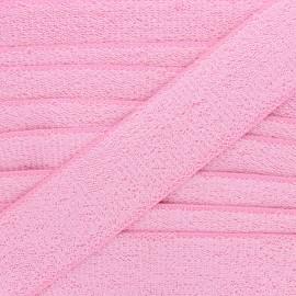 Ruban élastique éponge 45 mm - rose x 50cm