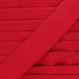 Ruban élastique éponge 45 mm - rouge x 50cm