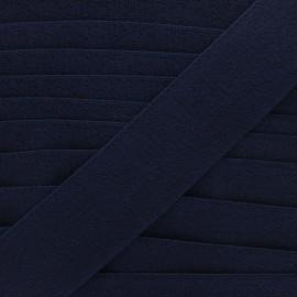 45 mm sponge elastic ribbon - navy blue x 50cm