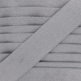 Ruban élastique éponge 45 mm - gris x 50cm