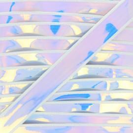 25mm holographic ribbon - purple Galaxa x 50cm
