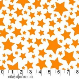 Tissu Super Stars Orange x 10cm