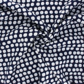 Viscose fabric - midnight blue Marilyn x 10cm