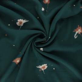 Tissu crêpe de viscose Windy - vert sapin x 10cm