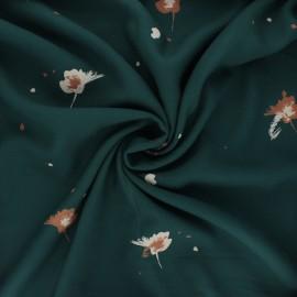 Viscose crepe fabric - pine green Windy x 10cm
