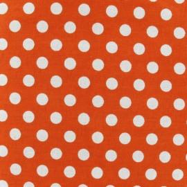 Tissu pois orange x 10cm