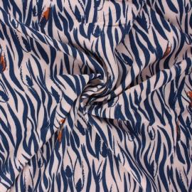 Tissu crêpe de viscose Zebra - rose perle x 10cm