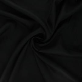 Plain viscose twill fabric - licorice black x 10cm