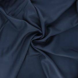 Plain viscose twill fabric - mineral blue x 10cm