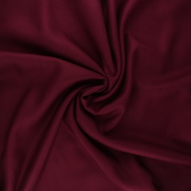 Plain viscose twill fabric - tayberry x 10cm