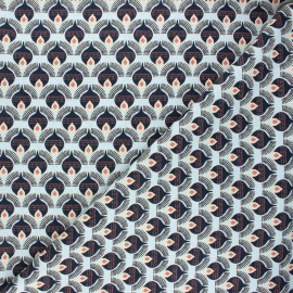 Linen and viscose fabric by Penelope® - black Thya x 10 cm