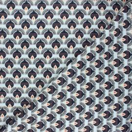 Tissu lin viscose Thya by Penelope® - noir x 10 cm